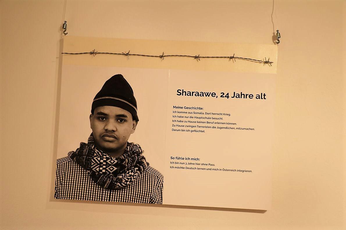 Sharaawe, kommt aus dem Kriegsland Somalia.