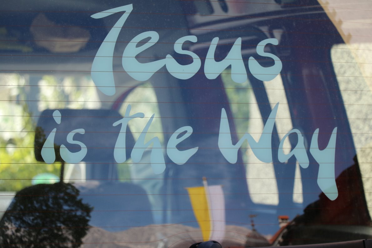 """Jesus is the Way"" Bus von René Dorer. (Foto: Knut Kuckel)"