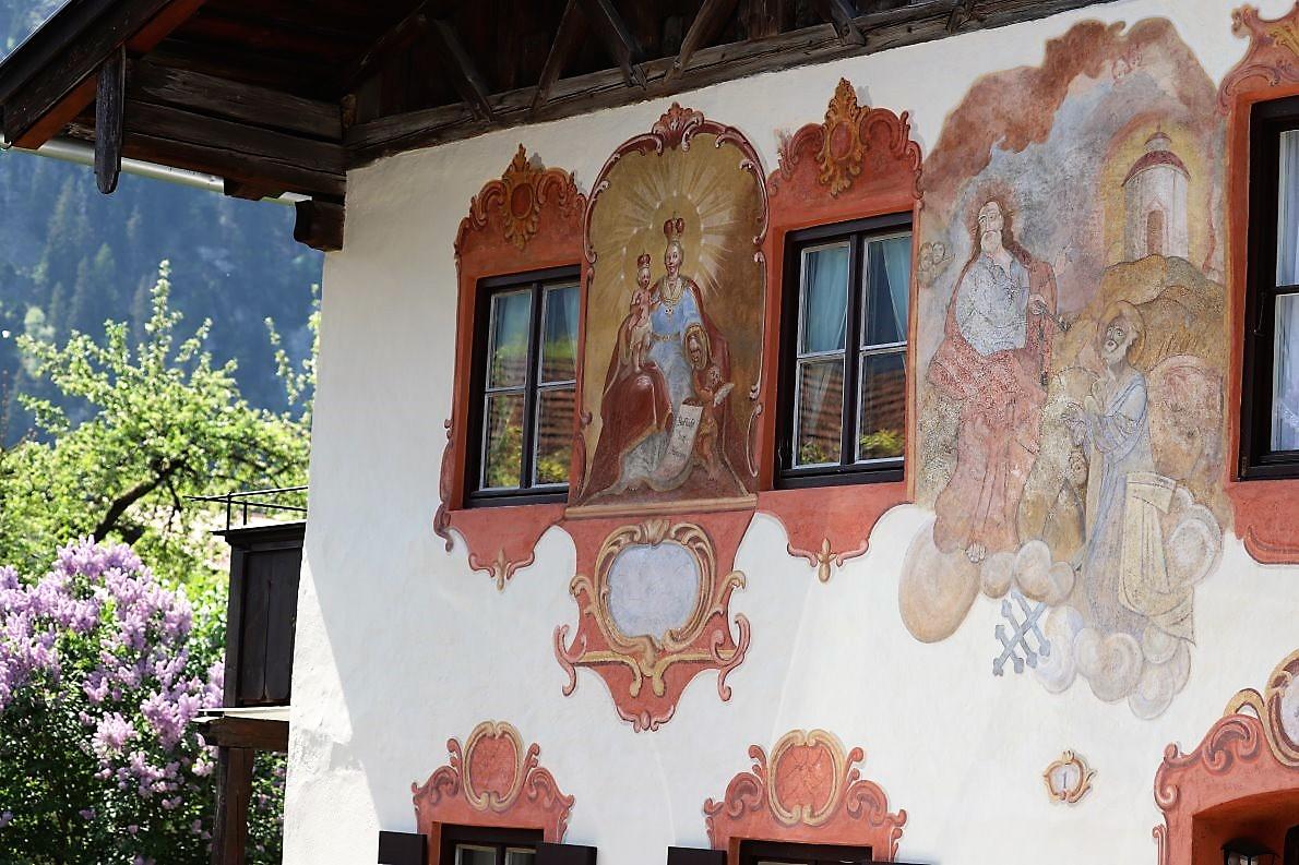 Heimathaus des Fassadenmalers Franz Seraph Zwinck, Haus am Lüftl. (Foto: Knut Kuckel)