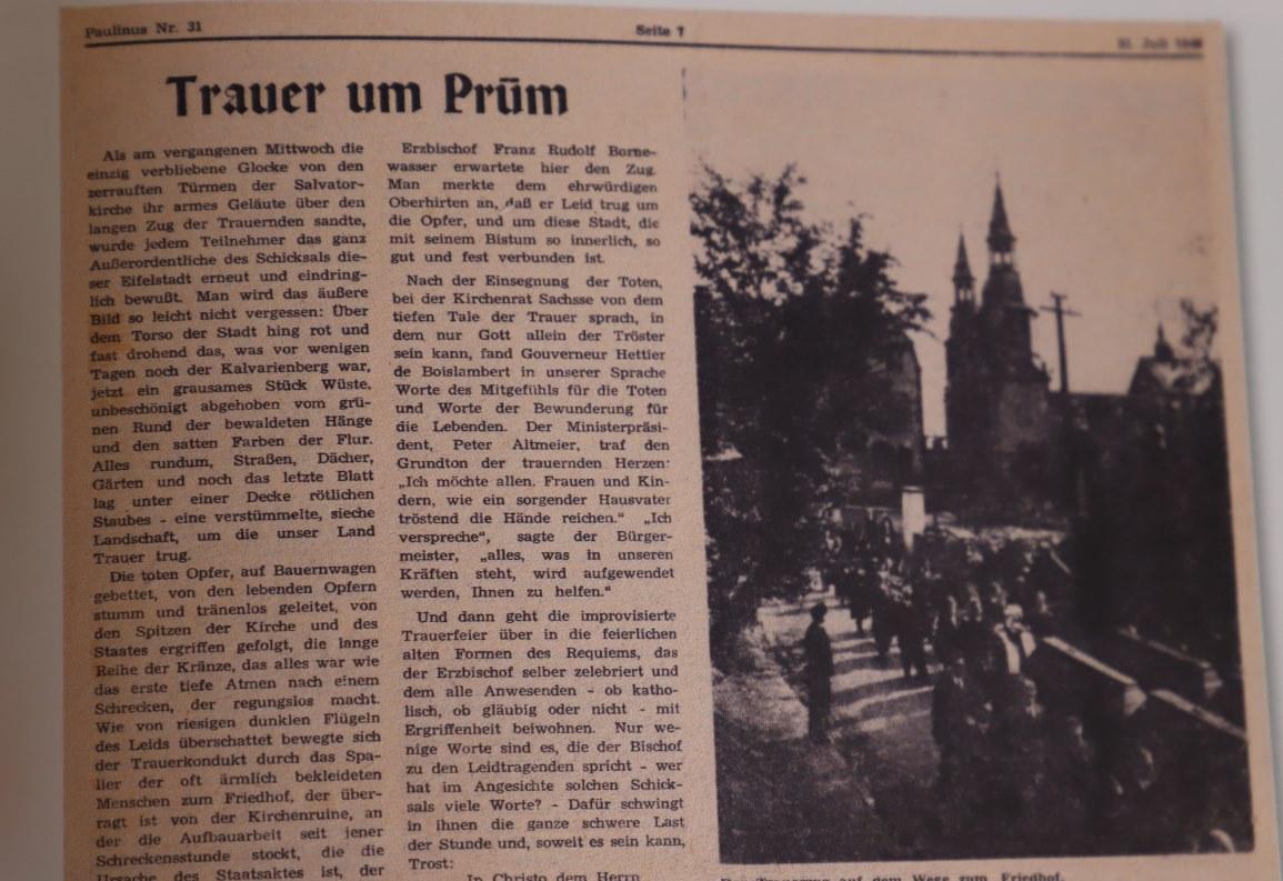 Traue um Prüm, Paulinus, 31. Juli 1949 (Foto: Monika Rolef/Das neue Prüm)