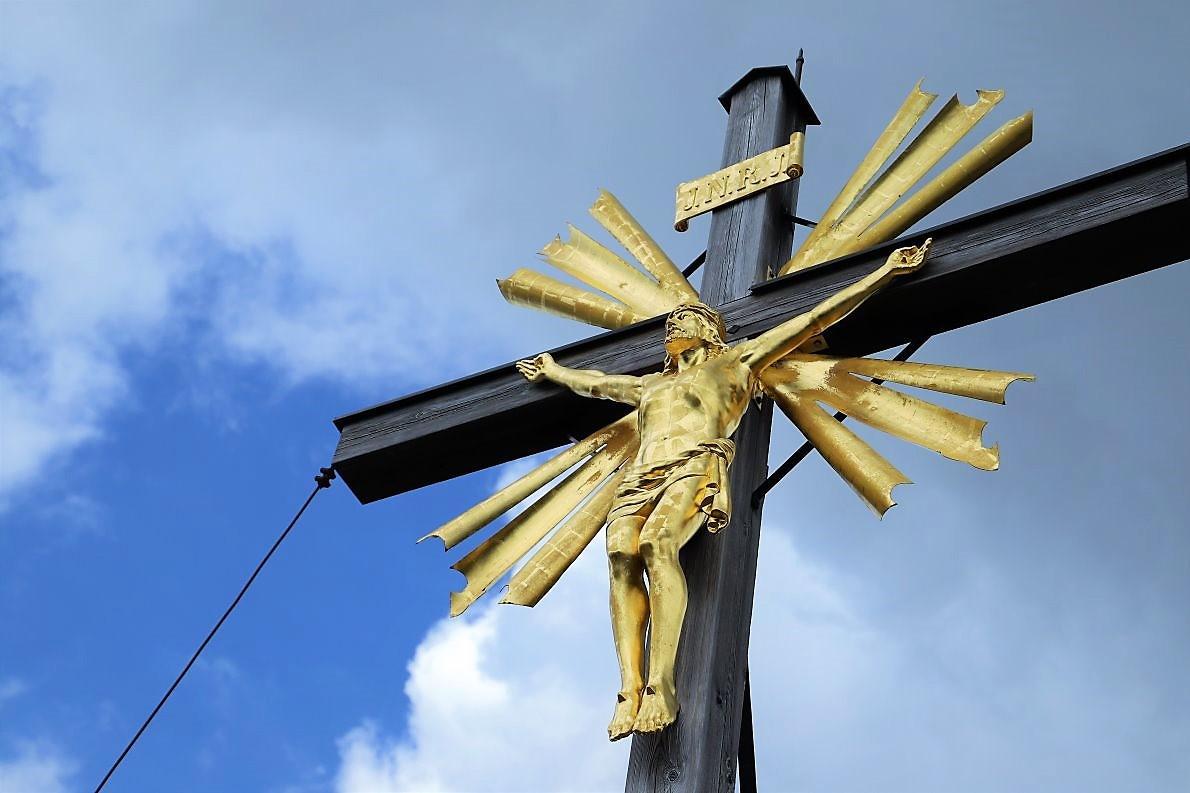 Gipfelkreuz, Wank, Garmisch-Partenkirchen. (Foto Knut Kuckel)