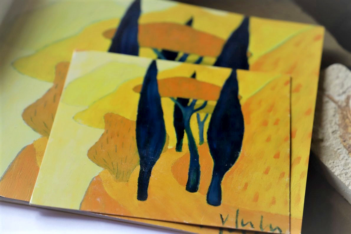 """""""Eine gelbe Gardaseelandschaft"""", wird Veronika Gerber unter ihr nächstes Bild schreiben. Foto: Knut Kuckel"""