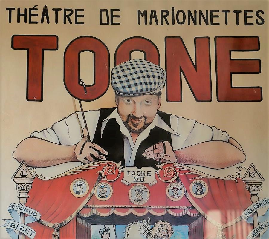 Das alte Plakat vom Marionettentheater Toone war das Abschiedsgeschenk meiner Brüsseler Kollegin Gisela. (Foto: Knut Kuckel)